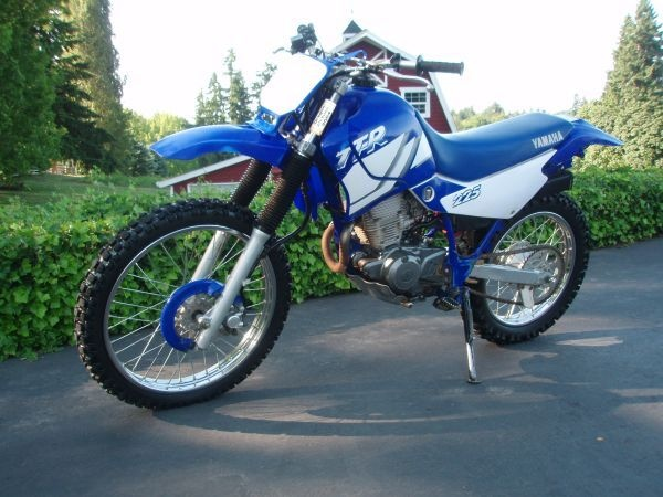 2002 Yamaha TTR 225....love!!  I call mine the couch because the seat is so comfortable.