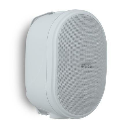 APart Apart OVO5T White  — 5639 руб. —  Настенный громкоговоритель, предназначенный для озвучивания небольших и средних помещений (офисы, кафе, магазины и др). Динамики: 1  ВЧ и 5,25  СЧ/НЧ, 6 Ом / 100 В, частотный диапазон: 70 Гц - 20 кГц, чувствительность: 90 дБ.