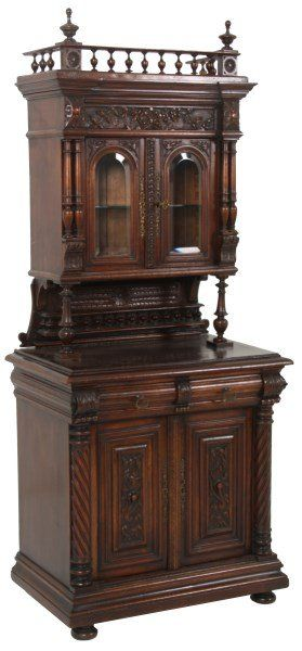Extraordinary Classic Luxury Furniture. Diminutive Continental Walnut Stepback Cabinet. | rickysturn/home-styling