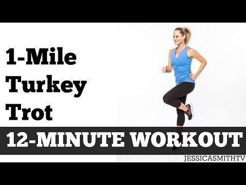 1-Mile Turkey Trot | Fast Paced Walking Workout Full Length Low Impact Home Exercise Video - YouTube