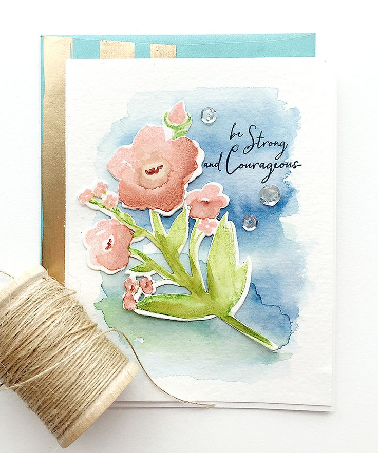 SAF 2016: Masterpiece Inspirations - Be Strong And Courageous Card by Danielle Flanders for Papertrey Ink (July 2016)