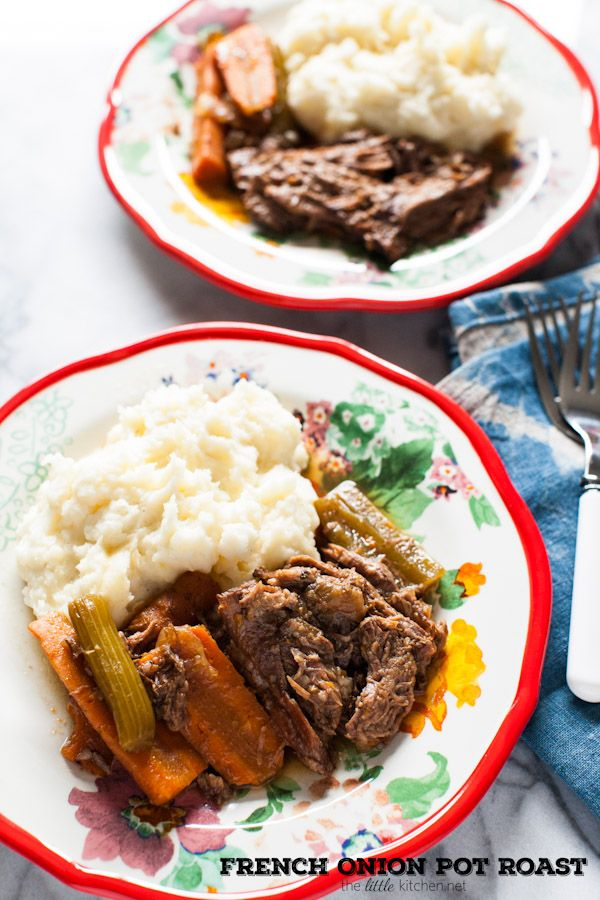 this looks like total comfort food! > French Onion Pot Roast (Slow Cooker Recipe) from thelittlekitchen.net @TheLittleKitchn