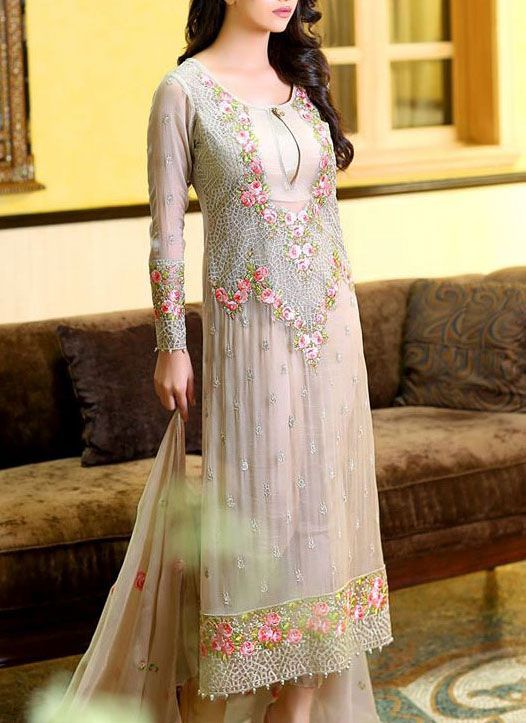 Buy Embroidered Chiffon Dress by Embellish 2015.