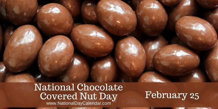 NATIONAL CHOCOLATE COVERED NUT DAY – February 25