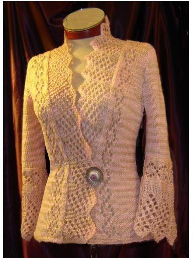 Colette Cardigan Knitting Pattern -PDF