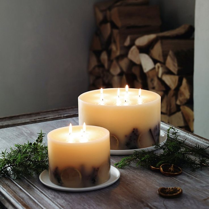 Winter Botanical Candle - Large   The White Company #whitechristmaswishlist