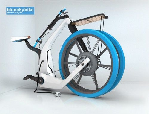 blue-sky-bike-folded designed the folks down under is also an electric bike.