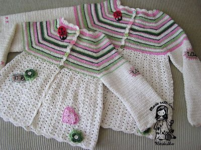 Magic with hook and needles: Flower cardigan - updated version February 2013