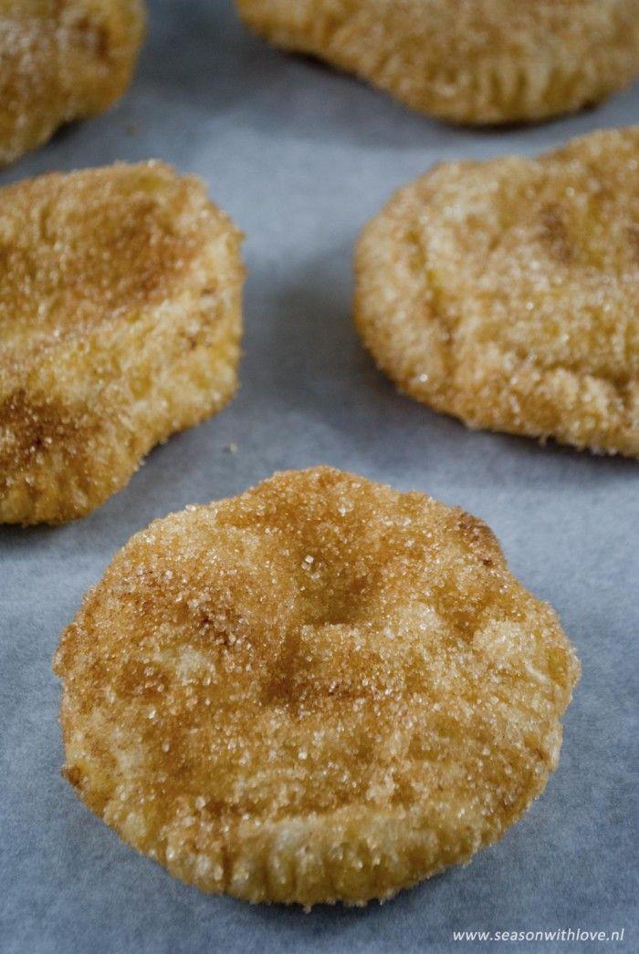 Zelfgemaakte appelbeignets met custard - Recept in bron