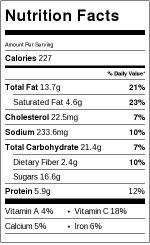 Crock-Pot Easy Green Beans and Bacon Nutrition Label