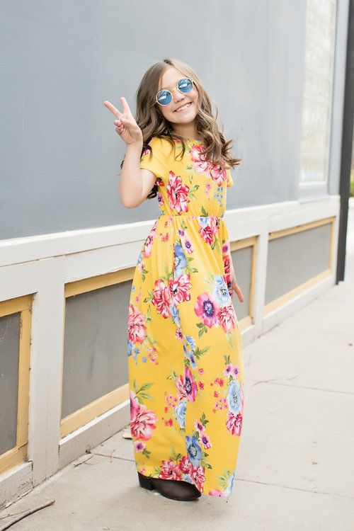 24412c69294f Yellow Floral Maxi