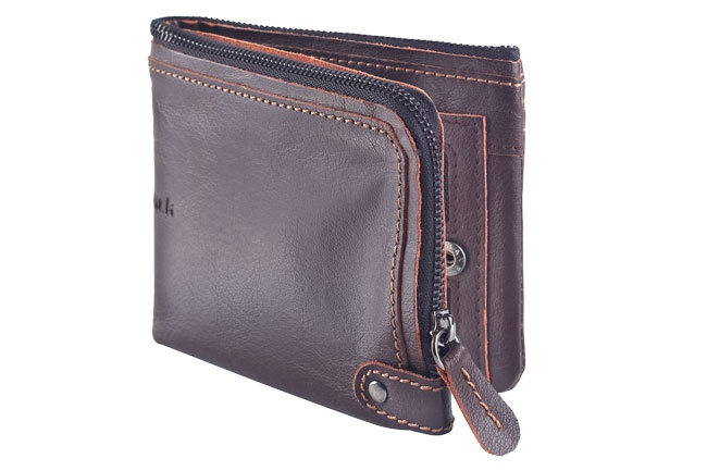 Leather large soft zipped wallet with internal card slots and push button closure.. Wallets from Fastrack http://www.fastrack.in/product/c0320lbr02/?filter=yes=india=9=4&_=1334231927426
