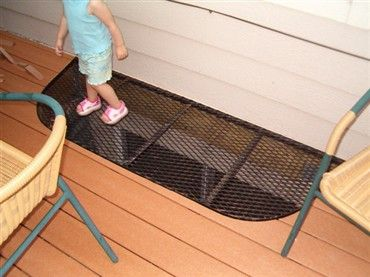 deck with window well -