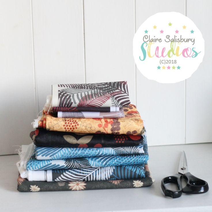 Bundle of fabrics designed during Make it in Design Winter School 2018 and printed by Fashion Formula #clairesalisburystudios #makeitindesign #fashionformulauk