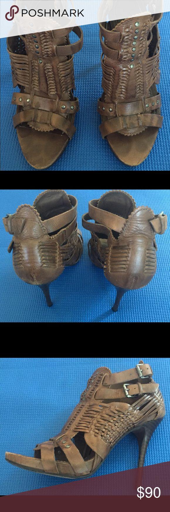 Allsaints Spitalfields heels Leather strappy heels Allsaints Spitalfields Shoes Heels