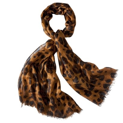 Mossimo Cheetah Scarf with Fringe