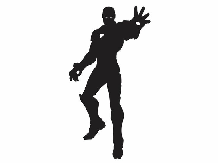 Iron man Silhouette | Super Hero room | Pinterest
