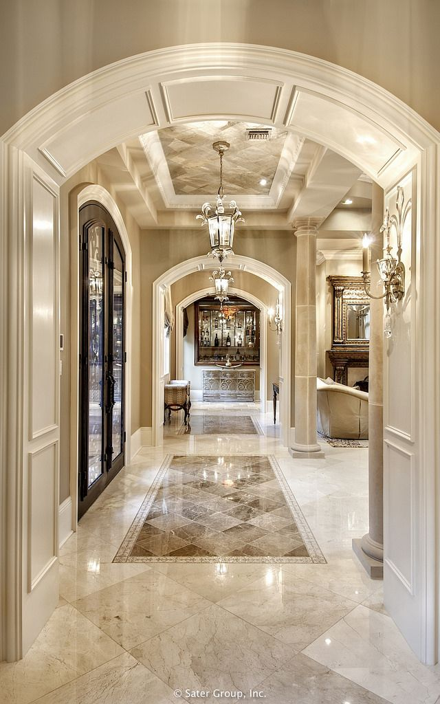 Marble flooring definitely makes a sophisticated statement. www.luxebyminihaha.co.uk