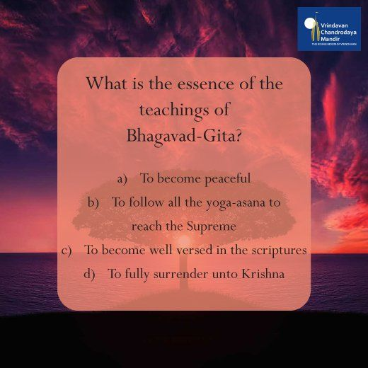 What is the essence of the teachings of Bhagavad-Gita?