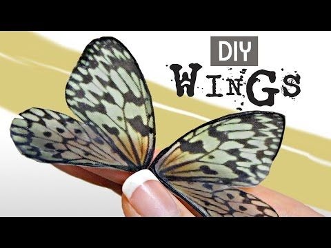 DIY How to Make Beautiful Fairy Wings- The Easy Way! - YouTube