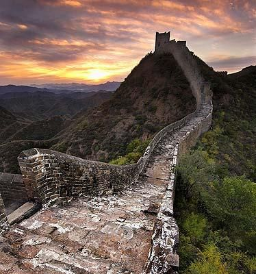 The Great Wall of China: Slithering like the tail of a dragon, the Great Wall of China still stands as a testament to the power and wonder of ancient China.  The Wall can be seen from Space and has been named as one of the NEW 7 Wonders of the World.