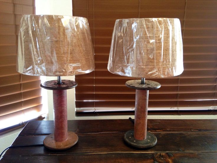 A personal favorite from my Etsy shop https://www.etsy.com/listing/468682708/rustic-lamp-set-vintage-lamp-country