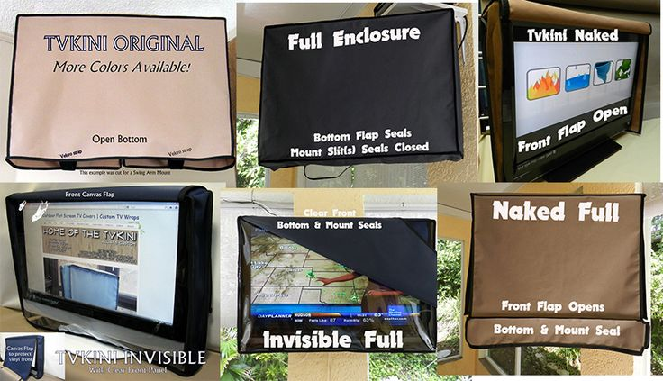 outdoor living, waterproof tv cover, invisible tv cover, clear tv cover, tv covers