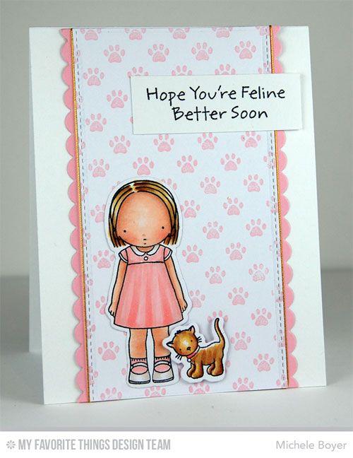 PI Feline Better Stamp Set, PI Feline Better Die-namics, Blueprints 23 Die-namics, Paw Prints Background - Michele Boyer #mftstamps