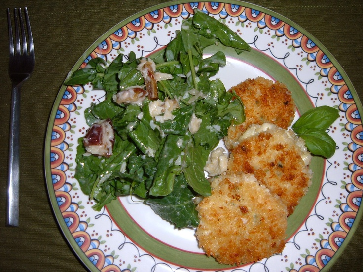 ... and arugula salad chive risotto risotto cakes they re delish cakes ina