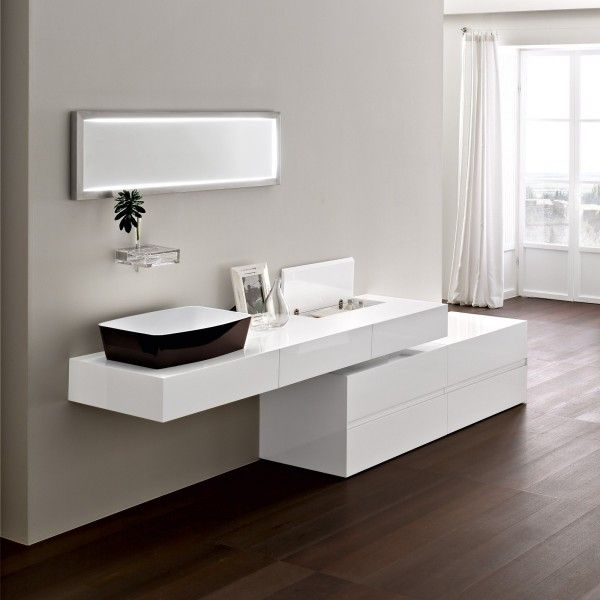 ultra modern italian bathroom design - Modern White Bathroom Cabinets