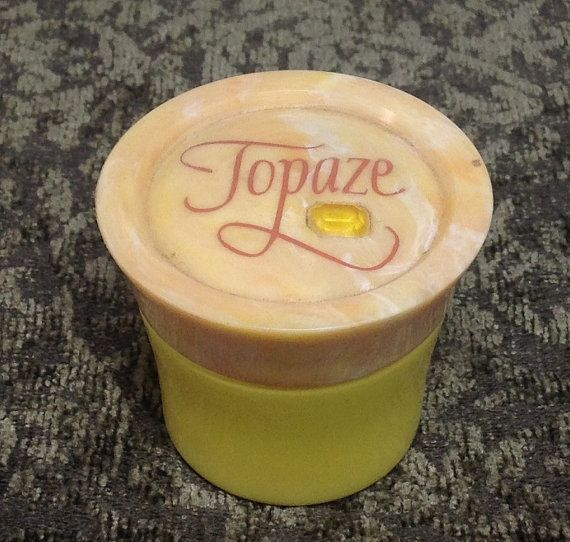 Vintage Avon TOPAZ Cream Sachet Jar by NAWTIEHOPE on Etsy