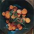 Roasted Sweet-Potato Rounds with Garlic Oil and Fried Sage recipe
