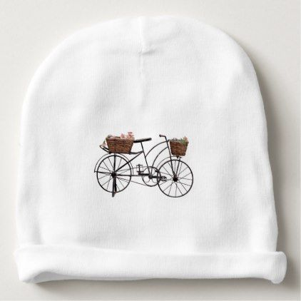 Antique bicycle baby beanie - antique gifts stylish cool diy custom