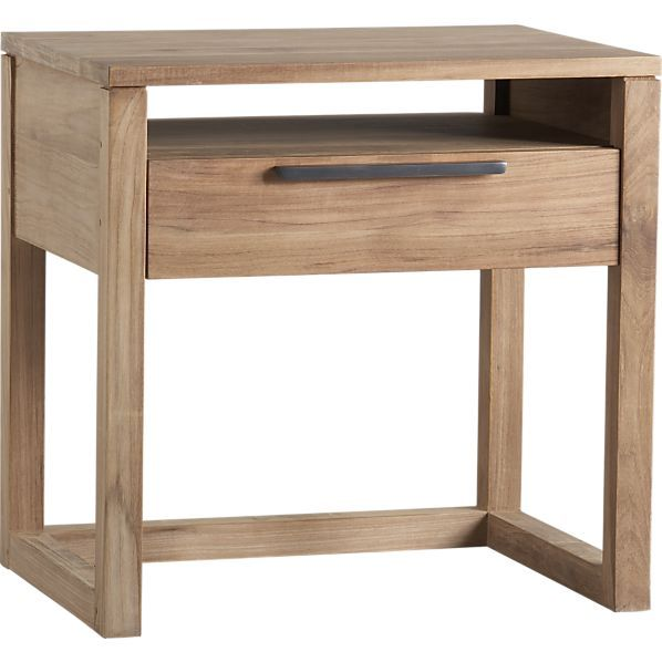 Linea 1-Drawer Nightstand in Nightstands | Crate and Barrel/too matchy to have nightstands same as dresser or looks clean?