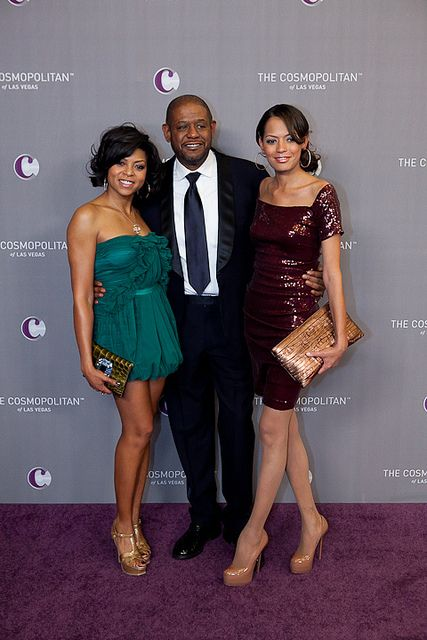 Taraji P. Henson, Forest Whitaker and Keisha Whitaker at The Cosmopolitan Great Opening and New Years Eve Celebration