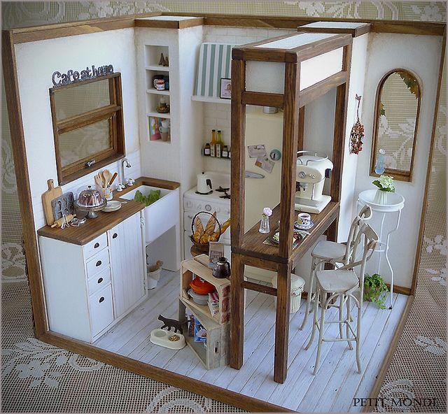 Dollhouse Miniature Roombox Sitting Room: 25+ Best Ideas About Mini Kitchen On Pinterest