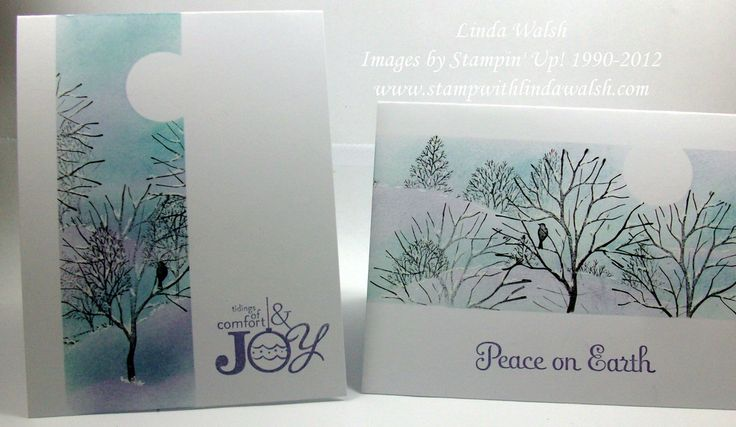 Beautiful cards made with the SU Lovely as a Tree stamp set.