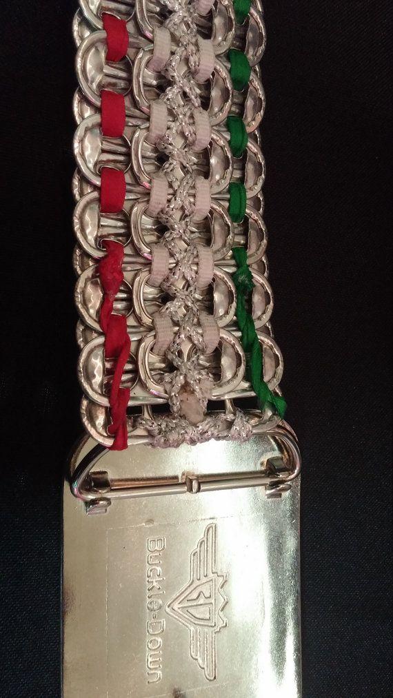 Top riem van de Soda Pop gerecycleerd aluminium-zilver. Grootte fited 34 tot en met 36. Verwisselbare gesp desgewenst wijzigen