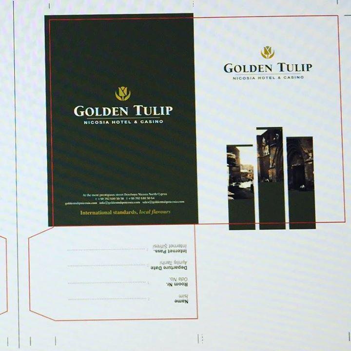 Golden Tulip Otel oda kart cebi www.aso.com.tr #tasarım #asoajans