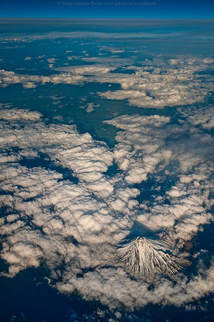 Mt. Taranaki - awesome view from the air flying New Plymouth to Christchurch