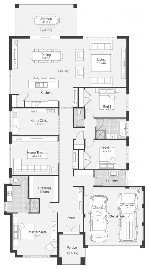48 best images about floor plans on pinterest house for Dale alcock home designs