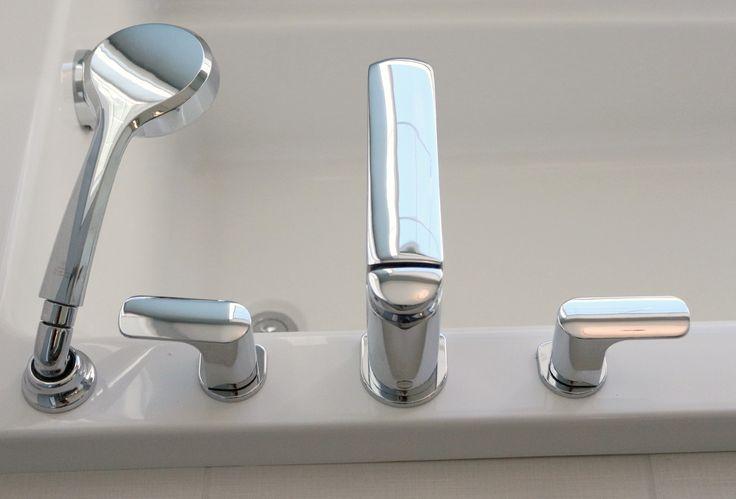 Bathroom, tub fixtures
