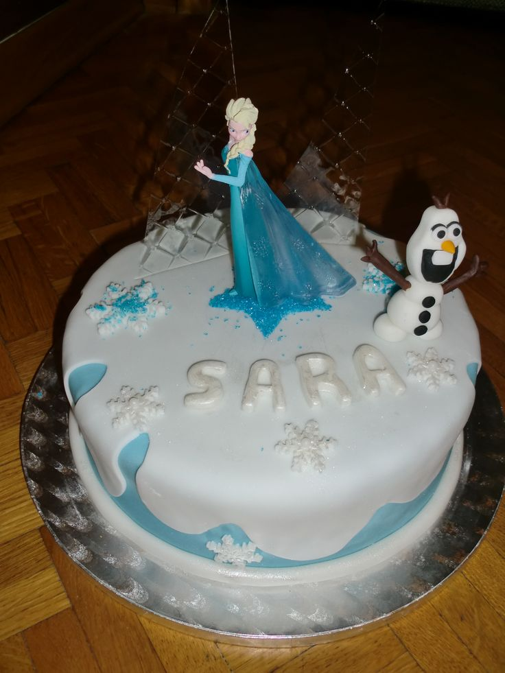 Gâteau anniversaire Reine des neiges https://www.facebook.com/pages/Miss-CupN-Cakes/552696768162358?ref=bookmarks