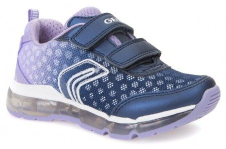 Geox Android Navy Lilac Lights Trainers - Geox Kids Shoes - Little Wanderers