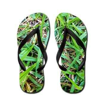 Grass Flip Flops @ http://www.cafepress.com/silverlime2013 #gardening #design #grass #landscape
