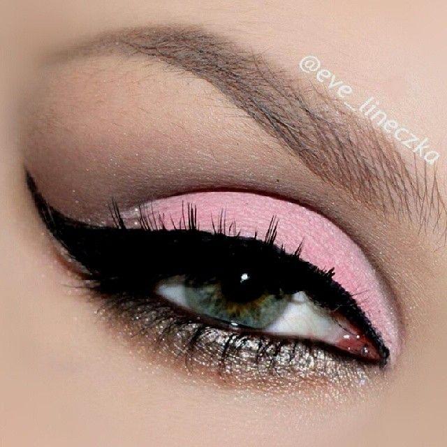 Pink pastel eyeshadow look