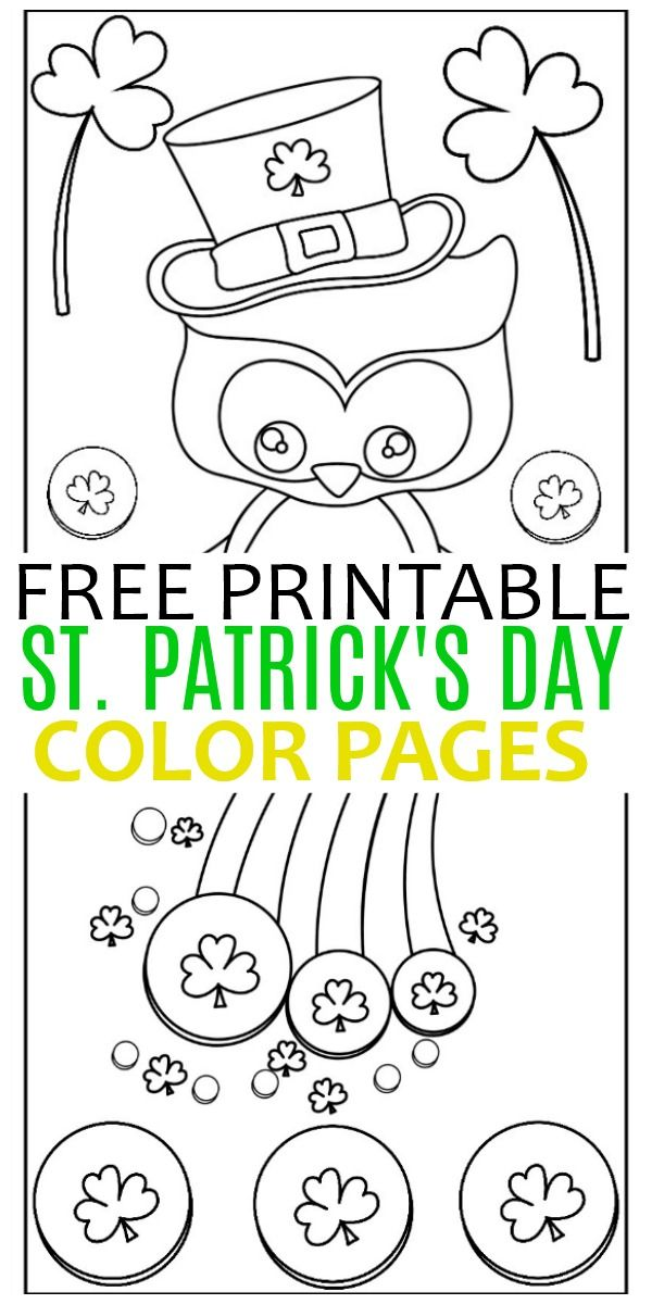 These Free Printables St Patrick S Day Color Pages Are Fun For Kids And Are Fi St Patricks Day Crafts For Kids St Patricks Day Quotes Free Kids Coloring Pages