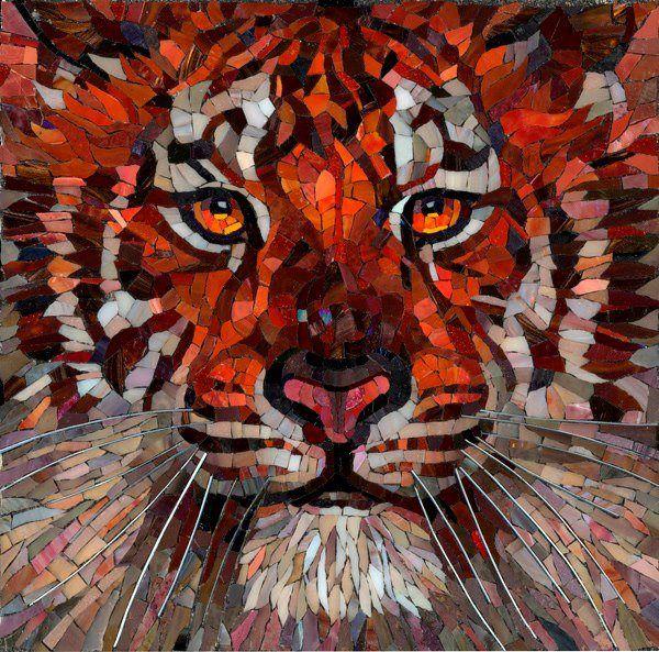 tiger; no attribution. Mosaic.