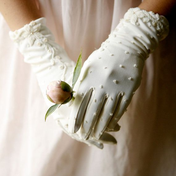 sprinkles - vintage gloves.  We wore these every Easter