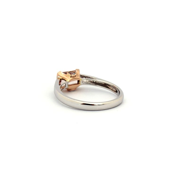 LA VIE EN ROSE RING | This stunning ring is handmade from 18 karat white gold and rose gold. | It can be worn as a dress ring or be presented as an engagement ring.